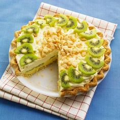 Kiwi Summer Limeade Pie                Refreshing and creamy, this make-ahead pie from Susan Meier of Omaha combines tropical flavors with macadamia nuts and kiwifruit.