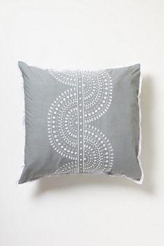 Anthropologie Imogen Euro Sham Gray Cotton Embroidered Moroccan Pattern Set Of 2 #Anthropologie