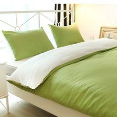Cotton Duvet Cover Sets, Reversible Solid Color Design