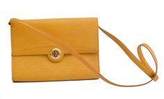 Louis Vuitton Arche Yellow Epi Clutch/Shoulder Bag