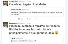 """Pela internet, Lucas Lima promete """"caneta e chapéu"""" em Robinho na Vila #globoesporte  http://santosjogafutebolarte.comunidades.net/seu-placar-de-novorizontino-x-santos"""