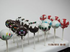 christmas cake pops ideas | CHRISTMAS CAKE POP DECORATING IDEAS