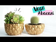 DIY VASO ABACAXI de CONCRETO | Nanny Ribeiro - YouTube