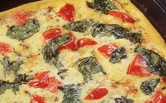 Spinach, Tomato and Parmesan Frittata