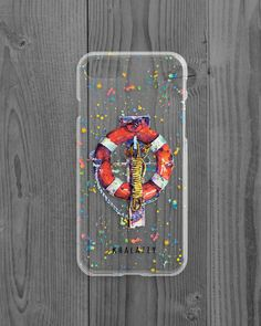 iPhone Case Sea, Iphone Cover Buoy, iPhone Case Life-buoy Ring, Transparent, Phone Case Sea, Gift for Her, Gift for Him, Phone Case Summer by KhalaziyPrints on Etsy