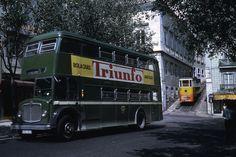 Antique Photos, Vintage Photos, Double Decker Bus, Manado, Capital City, Good Old, Historical Photos, Lisbon, The Past