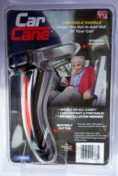 Car Cane™ 9663 Portable Handle w/LED Flashlight / Belt Cutter & Window Breaker