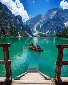 Perfect shot of Lake Braies! #lake #travel #italy