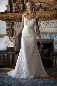 Lana wedding gown, lace wedding gown, lace sleeves, Augusta Jones