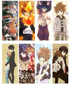 8 Pcs/Lot Japanese  2015 Hot Anime Hitman Reborn Sawada Tsunayoshi Jail Temple Falcon people Bookmark for Student's Gift Prize