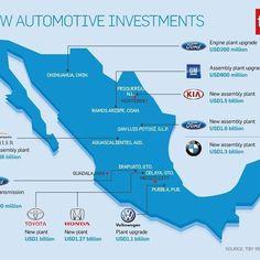 ¿Conoces cuáles son las nuevas inversiones automotrices en México?…