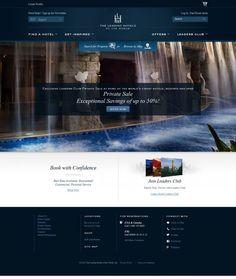 Luxury Hotels and Resorts - Leading Hotels of the World - Webdesign inspiration www.niceoneilike.com