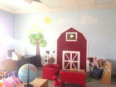 Barn theme preschool classroom