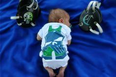 Baby's first wrestling pictures headgear singlet