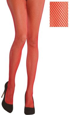 Red Fishnet Stockings - Party City