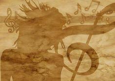 Papier, Pergamin, Klucz Wiolinowy, Muzyka, Dziewczyna