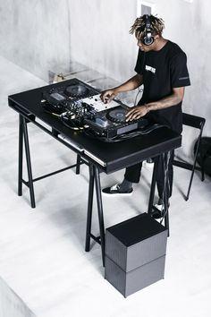 "stampdla:""Stampd x Ikea"" Music Studio Room, Studio Setup, Street Skater, Dj Table, Tables, Urban Lifestyle, Lifestyle Blog, Dj Stand, Ikea Us"