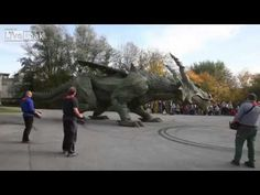 ▶ Biggest walking robot in the world. [Guiness World Record] - YouTube - Skip to 2:50 mark if you want to see it walking ;)