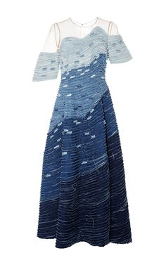 Frayed Wave Denim Dress by Alena Akhmadullina for Preorder on Moda Operandi