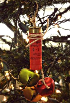 Shot Gun Shell Ornament https://www.etsy.com/listing/211556301/shot-gun-shell-jingle-bell-ornament?ref=related-0