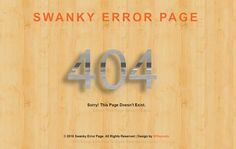 Download Swanky Error Page A Flat Responsive Widget Template - FREE