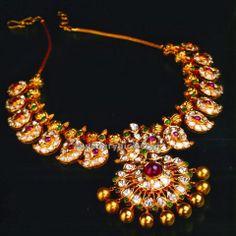 Gold Uncut Mango Mala lovely model by Manjula jewels
