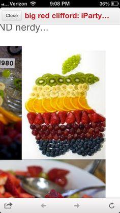 Social Media Party... Apple Mac fruit display