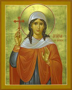 Oliva of Brescia Russian Orthodox icon Russian Icons, Byzantine Icons, Russian Orthodox, Orthodox Christianity, Orthodox Icons, Alexandria, Saints, History, Fictional Characters