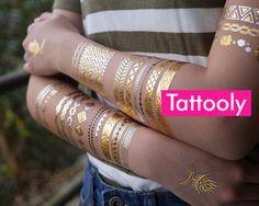 3 Sheets   Gold Tattoos   Tattoo Bracelets, Tattoo Jewelry, Festival Accessories, Body Jewelry, Summer, Gold Tattoo, Fashion Accessories