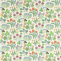 Wallpaper Vårklockor - Non-Woven, Vårklockor, White, Josef Frank Wallpaper Online, Wallpaper Samples, Love Wallpaper, Designer Wallpaper, Pattern Wallpaper, Apple Wallpaper, Vintage Wallpaper Patterns, Scenic Wallpaper, Wallpaper Designs