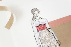 Victoria-Riza | Fashion Illustrator | Valentine's Look No. 2 | Marco de Vincenzo Spring 2016