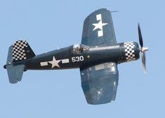 The F4U Corsair was another very successful American naval fighter of world war two.   It was the first American combat aircraft to exceed 400 mph in level flight, but its tricky carrier landing characteristics initially saw it limited to land-based operations, until the British perfected a technique of landing it on a carrier by flying in on a banked approach, rather than the traditional straight-in approach.