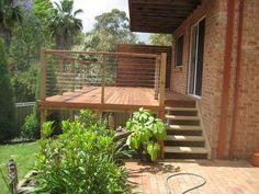 timber deck handrail design - Google Search