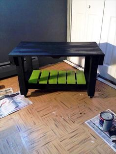 Amazing If You Are Big Fan Of DIY Projects And Just Feel Pleasure By Building Your  Own Things Then This DIY Mini Pallet Table With Lower Shelf Isu2026