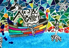 Niki de Saint Phalle Jean Tinguely, Stained Glass Art, Tea Sets, Mosaic, Dish, Sculpture, Mosaics, Tea Set, Plate