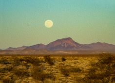 Mohave Desert Moon by Bonnie Follett - Arizona - - - Print products using this image are available on canvas, metal, acrylic and wood or as framed prints, posters, greeting cards, tote bags, throw pillows, etc.  (Click on image or see my Pixels site profile pages:  http://bonnie-follett.pixels.com/index.html ) - For Licensing of my images see:  http://licensing.pixels.com/profiles/bonnie-follett.html?tab=artworkgalleries