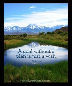 A goal without a plan is just a wish.  #stephencovey #stephencoveyquotes #kurttasche