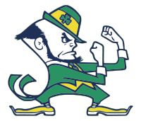 ND - Notre Dame Football - The Fighting Leprechaun mascot