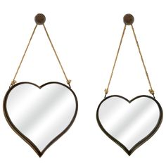 Hanging Hearts Wall Mirror Set of 2 @LaylaGrayce