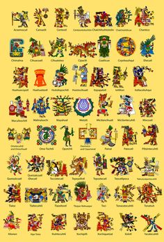 Aztec God Poster los mayas tenian dioses para todo.