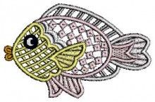 Cute Fish Lace Design free designs embroidery brother machines