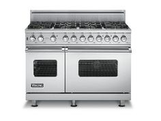 48 Viking range, 6 burners with grill. Double oven ...