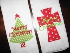 cute Christmas towels