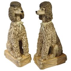 Magnificent Pair of Lifesize Poodle Statue