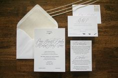 Oh So Beautiful Paper: Paige + Michael's Elegant Calligraphy Wedding Invitations
