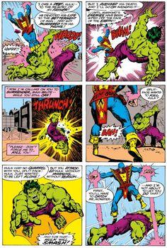 Hulk vs Jack of Hearts [from The Incredible Hulk (1962) #214]