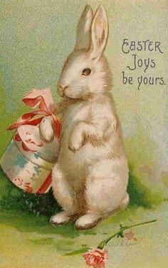 "Vintage postcard of bunny, ""Easter Joys Be Yours"" Easter Art, Easter Crafts, Easter Bunny, Happy Easter, Vintage Cards, Vintage Postcards, Holiday Postcards, Easter Greeting Cards, Easter Pictures"