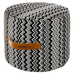 I pinned this Missoni Home Tobago Cylindrical Pouf 2 from the Ottoman Dynasty event at Joss and Main! Missoni, Leather Ottoman, Pouf Ottoman, Green Ottoman, Ottoman Ideas, Milan Apartment, Dream Apartment, Textiles, Furniture Upholstery