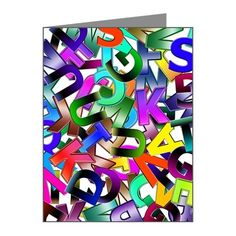 Colorful Alphabet Note Cards (Pk of 10)