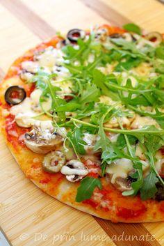 Pizza cu ciuperci/ Mushroom pizza